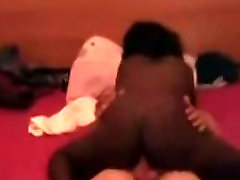 Amateur Black Booty for White cock