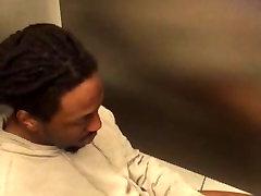Str8 black guy in public toilet