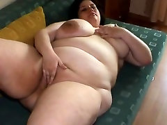 Fat BBW GF Loves playing with her Tits and Wet Pussy