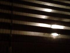 BBW nude neighbor window peep after shower