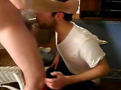 Guy fucking his friend&039;s mouth and throat really good