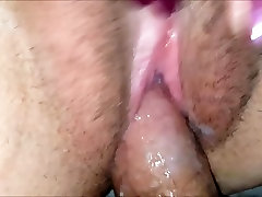 Fucking the wifes very creamy pussy