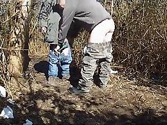 Huge fat old cock in woods