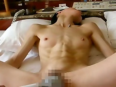 Super ripped abs on skinny body