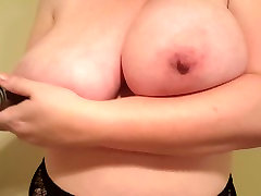 Big natural tits slut Lateshay nipple extenders