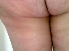 wifes big white ass in the shower