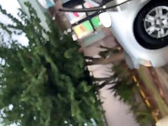Mature ass cleaning car