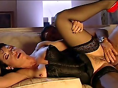 Sexy MILF In Red Heels and Stockings