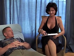 Big tits mature milf cougar fucks younger guy