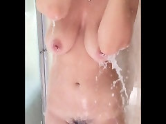 Big Natural Boobs Showering in Slow Motion