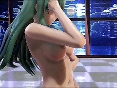 MMD Green Hair Cutie Nice Tits Hairy Pussy Sweet Ass GV00124