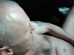 Dirty horny grandpa all nude in public porn video