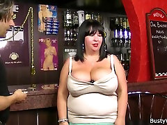 Fat barmaid getting fucked at work