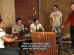 5 friends Raw Easter Wank Party