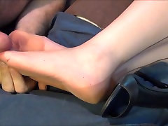 Vintage Fully Fashioned Beige Stockings with Cum