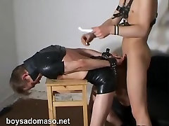 Gay Leather Spanking