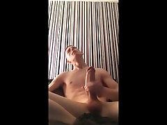 Skinny White Boy Got A Big Ass Dick Cum Shot!!!
