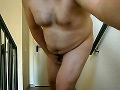 amateur handjob cumshot with prostate massage