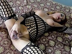 Hot blonde asian tranny gets fucked hard