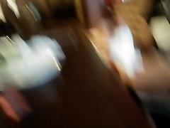 Cum under table in girl&039;s legs...