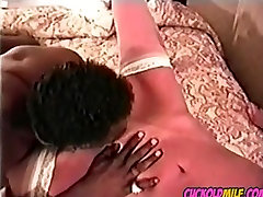 chacha gro xxx MILF vintage archives BBC bull Sissy cleans up after