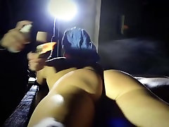 Grounded slave mouth hard fucked in bondage use of pain