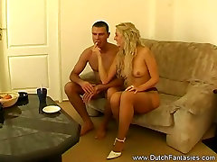 Blonde Dutch big booby danger MILF FuckRough sex is in store for this b