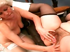 Two Old Lesbian Whores Licking