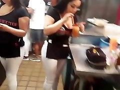 Big Tits & Ass Hostest at a Mexiacn Resturant