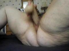 Fat granny and her dildo