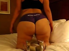 Big White BBW Booty jiggling all over bed