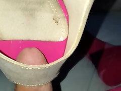 Fucking peep toes high heels sexy women