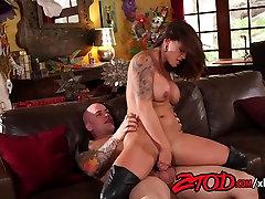 Eva Angelina drilled hard in BDSM