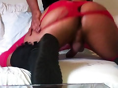 Sexy sissy Oiled bubble Butt in Pink panty