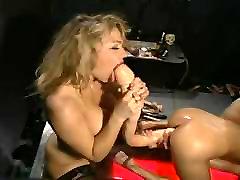90&039;s Retro Lesbian big dildo orgy