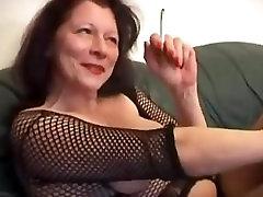 mature mother smoking tease