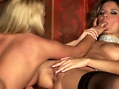 Couple of nasty blonde beauties cant refrain from using some sex toys for their nasty Sapphic game