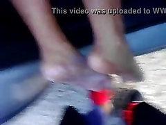 Ebony foot job part 1