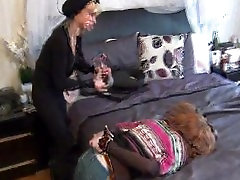 Cat burglar tapes up and gags red head