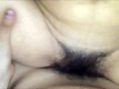 Asian Teenager Bush - Fucking her Hairy Pussy