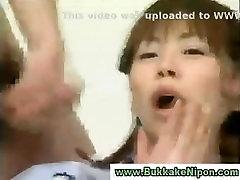 Monbu Ran crazy bukkake