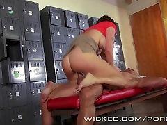 Wicked - Krissy Lynn takes a big load in the locker room