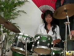 Chubby Asian Kya Tropic squirts and gets creampied