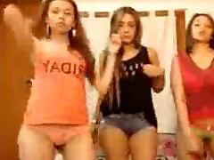 Three Hot Lesbian Teens Being Naughty