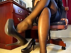 Ebony Femdom Pantyhose Teasing 1