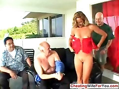 Mature cuckold wife get two loads of cum on her face