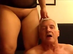 Chubby mature Asian gets her pussy eaten