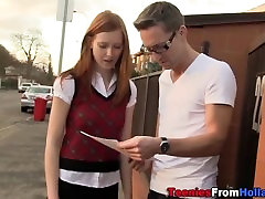 Amateur holland redhead teen gets cumshot