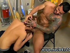 Sexy gay black men naked Kyler Moss sneaks into the janitors room for a