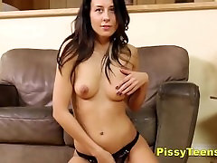 Anal Toying & Pissing Fun For Brunette Teen